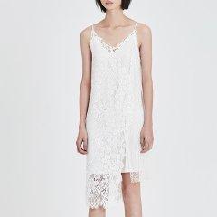 MO&Co./摩安珂女士连衣裙2018夏季新品吊带两件套拼接蕾丝连衣裙MA182DRS209图片