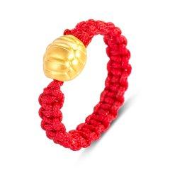 Magifas/Magifas 富甲一方 3D硬金足金 手工编织龟甲足金转运珠戒指图片