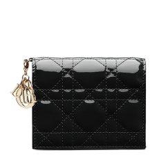 DIOR/迪奥  经典款Lady Dior女士漆皮短款钱包 (2色可选)图片