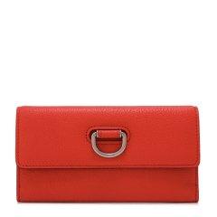 BURBERRY/博柏利女士D环山羊皮长款钱包4076646亮红色图片