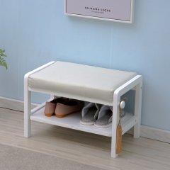 INNESS/英尼斯 实木换鞋凳多层鞋架简约现代储物凳试鞋凳图片