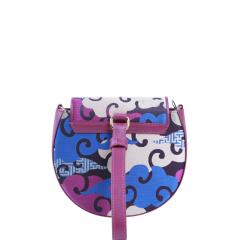 SAINTJOY/上久楷 宋锦桑蚕丝面料女士式拎包 蓝紫零度空间 BW18B0701图片