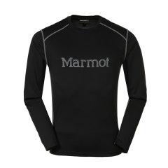 marmot/土拨鼠2018新款男式排汗透气速干T恤长袖圆领防晒S54310   轻量透气速干针织面料图片