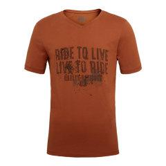 Harley-Davidson/哈雷戴维森纯棉简约V领字母印花男士短袖T恤休闲图片