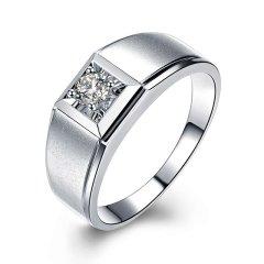 ZOCAI/佐卡伊 白18K金钻戒男士钻石戒指结婚男戒男士戒指婚戒图片