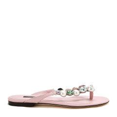 【17秋冬新款】Dolce&Gabbana/杜嘉班纳女士凉拖-女士时尚拖鞋(平跟)牛皮图片