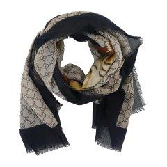 GUCCI/古驰 老虎印花中性款式羊毛围巾图片