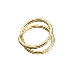 DONGWEI/冬尾Theinfinitycollection无穷符号系列1号个性简约银镀18K金戒指图片