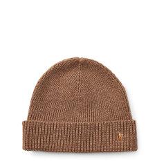 Ralph Lauren/拉夫劳伦 男士翻口小马标美利奴羊毛针织帽 0030461313图片