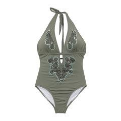 JOG/JOG BOMBAY 手工刺绣中国风连体泳衣  121图片