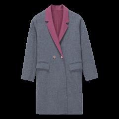 ERDOS/鄂尔多斯 18秋冬中长款纯羊绒翻领女士大衣图片