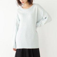 HusHusH/HusHusH 女士温暖宽松大圆领起绒长袖针织衫51113015图片