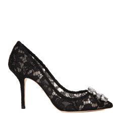 Dolce&Gabbana/杜嘉班纳高跟鞋-女士黑色时尚皮鞋 高跟材质:粘纤棉锦纶桑图片