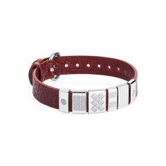【Designer Jewelry】brosway/宝思薇意大利设计意大利手工牛皮男士手链潮 生日礼物图片