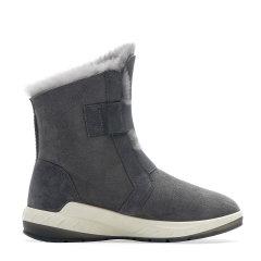 COZY STEPS/COZY STEPS 羊皮毛一体时尚魔术贴女士雪地靴 沥青色 37图片