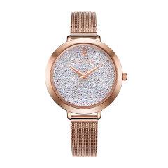 Pierre Lannier/连尼亚 法国原装进口施华洛世奇水晶元素星钻系列米兰编织表带女士石英手表图片