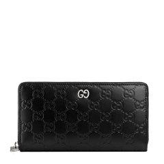 【包税】Gucci古驰Signature系列男士牛皮拉链长款钱包图片