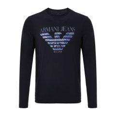 【17秋冬新款】ARMANI JEANS/阿玛尼牛仔男士长袖T恤-男士牛仔系列T恤棉图片
