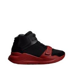 【奢品节可用券】BURBERRY/博柏利  18秋冬新款男士麂皮拼橡胶高帮运动鞋图片
