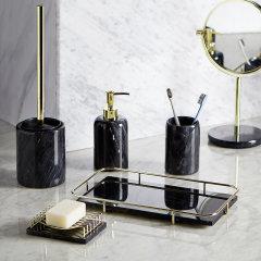 bencross本心本来 大理石卫浴套装 漱口杯 托盘 肥皂托 桶刷架 洗手液瓶图片