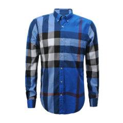 【包邮包税】BURBERRY/博柏利 男士纯棉经典格纹长袖衬衫图片