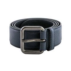 PRADA/普拉达 男士黑色牛皮压纹针扣腰带 2CS006图片