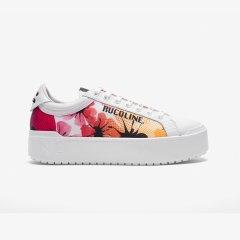 RucoLine/RucoLine 19春夏新品 花卉图案低帮系带女士板鞋图片