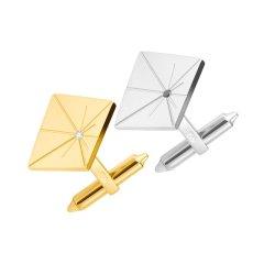 YIN/隐「应」闪烁脉冲星系列 黄金色/白金色18K金 袖扣图片