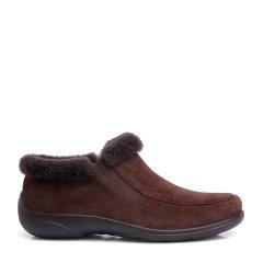COZY STEPS/COZY STEPS 牛皮+羊皮毛一体女士平跟鞋 巧克力色 39图片