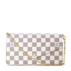 Louis Vuitton/路易威登  白棋盘格三合一斜挎包 N63106,断货款 白色图片