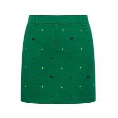 HAZZYS/哈吉斯 2018夏季新款女士半身裙时尚百搭刺绣夏日H型短裙ABQST08BT08图片