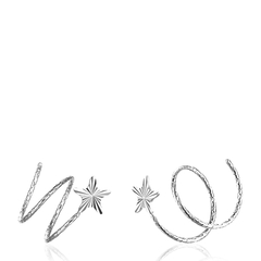 DEMONE/黛慕妮 18K彩金玫瑰金黄金白金流星旋转耳钉耳环 女图片