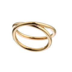 DONGWEI/冬尾Theinfinitycollection无穷符号系列2号个性简约银镀18K金戒指图片