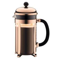 bodum波顿法压壶 香波系列进口玻璃法压壶 不锈钢耐热虑压茶壶大容量1000ml图片
