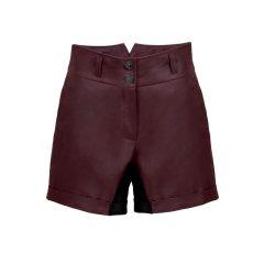Miasuki经典小羊皮全包臀短裤图片