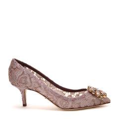 【17秋冬新款】Dolce&Gabbana/杜嘉班纳低/中跟鞋-女士时尚皮鞋(中跟)59%粘纤30%棉7%桑4%锦纶图片