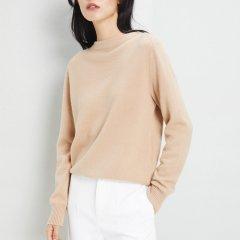 ERDOS/鄂尔多斯 19早春新品半高领宽松纯色简约长袖羊绒衫女士针织衫/毛衣图片