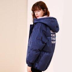 TATU/她图新款短款长袖外套休闲女士棉服图片
