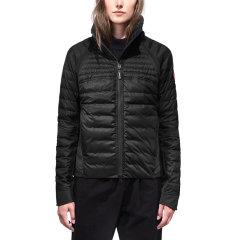 CANADA GOOSE/加拿大鹅 女士黑色白鸭绒时尚短款羽绒服图片