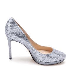 Jimmy Choo/周仰杰网纱面材质闪光元素防水台设计女士高跟鞋单鞋图片