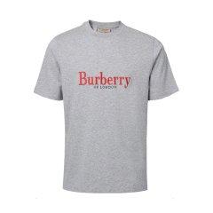 19春夏新品 BURBERRY/博柏利 棉质典藏绣标男士短袖T恤 T 恤衫 8007829图片