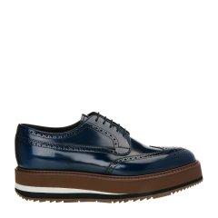 【极速发货】 18年春夏 PRADA 小牛皮男士商务鞋 GS-15464 咖啡色 英码5.5 咖啡色 英码5.5图片