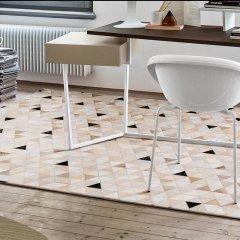DOWNESSA暖冬的北欧 设计师原创毛皮拼接地毯图片