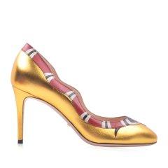 GUCCI/古驰 女士牛皮珊瑚蛇浅口细跟高跟鞋453403【奥莱】图片