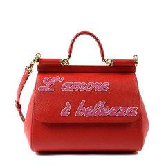 【18春夏】 Dolce&Gabbana/杜嘉班纳 女士 牛皮 牛皮 单肩包 时尚 印花 黑色 3032 尺寸:30cmx23cmx13cm 肩带尺寸: 50 cm图片