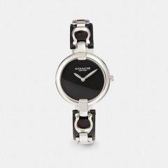 COACH/蔻驰  女士 高端系列 CHRYSTIE皮腕带镶嵌品牌经典标志表链石英腕表 W1586图片