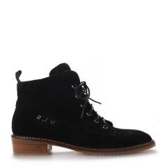 Neiliansheng/内联升 女士靴子时尚牛皮系带短靴 4714C图片