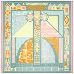HERMES/爱马仕  丝巾 两色可选 018792 裸色 方形图片