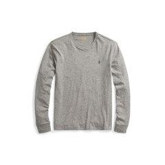 Ralph Lauren/拉夫劳伦 小马标纯棉男士长袖修身T恤414723 XL 浅灰色图片