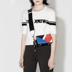 MO&Co./摩安珂女士针织衫/毛衣圆领撞色条纹中袖合体针织毛衫上衣女MA171SWT329MO&Co./摩安珂图片